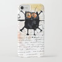 da vinci iPhone & iPod Cases featuring Kot da Vinci by Katja Main