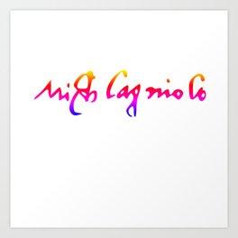 Michelangelo's pride signature Art Print