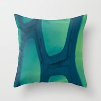 honeycomb Throw Pillows featuring Honeycomb by Dana E