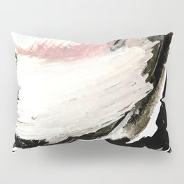 Crash: an abstract mixed media piece in black white and pink Pillow Sham