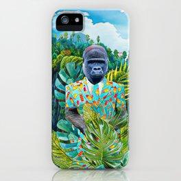 Gorilla in the jungle iPhone Case