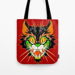 SPOOKY CAT (red) Tote Bag