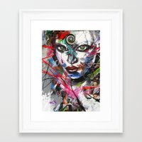 third eye Framed Art Prints featuring third eye by yossikotler