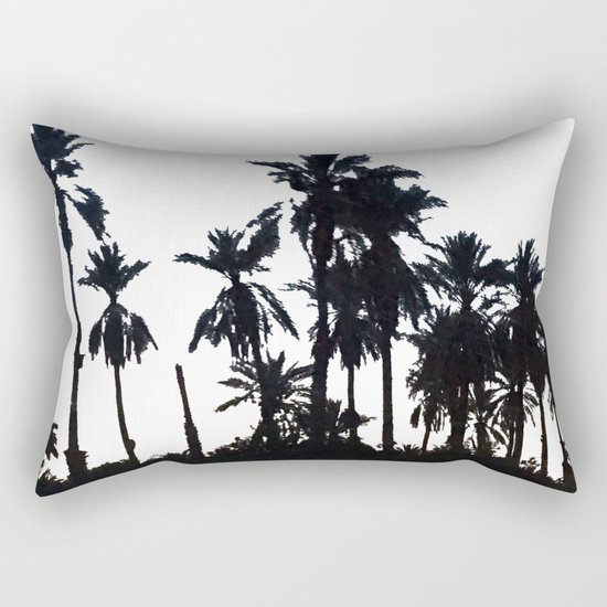 Date Palm Trees 3 Rectangular Pillow