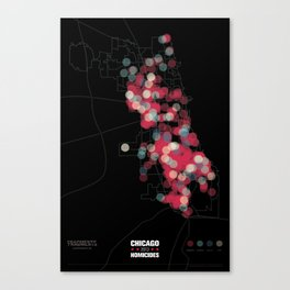 Chicago 2013 Homicides Canvas Print