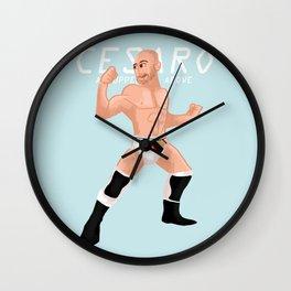 An uppercut above: Cesaro illustration Wall Clock