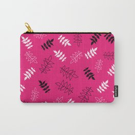 Vines On Magenta Background Carry-All Pouch
