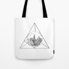 GRAPHIC Geometric. Shape Gray New York in a Bottle Tote Bag