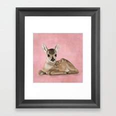 Small fawn Framed Art Print