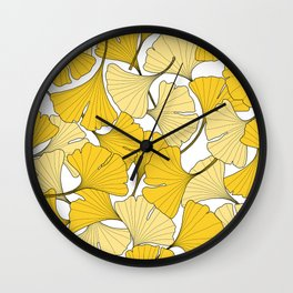 ginkgo leaves (yellow) Wall Clock