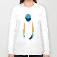 hotline miami Long Sleeve T-shirts featuring Hotline Miami: Biker by Hazakael