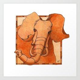 Elephant frame Art Print