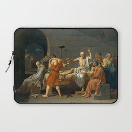 Jacques Louis David The Death of Socrates Laptop Sleeve