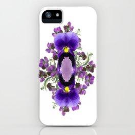 Birth Stone & Flower Print/FEBRUARY iPhone Case
