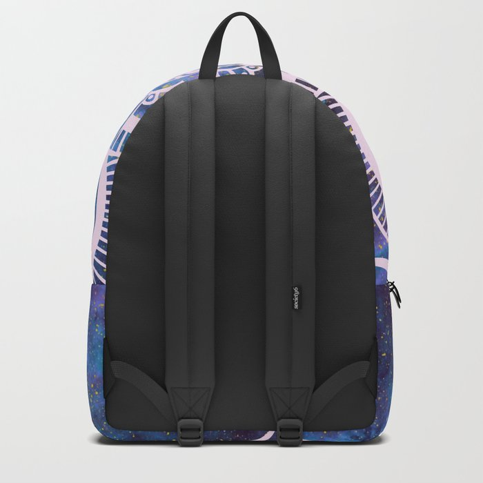 Galaxy Mandala Purple Lavender Blue Backpack