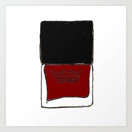 Butter London Red Art Print