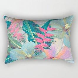 Aqua Ginger Alohas Rectangular Pillow