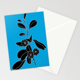 Goat's Foot (also known as Mauve Convolvulus, Beach Potato Vine, and Morning Gl - Ipomoea pes-caprae Stationery Cards