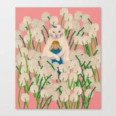 pinpong cat Canvas Print