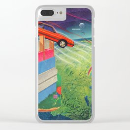 Intergalactic Travel Clear iPhone Case