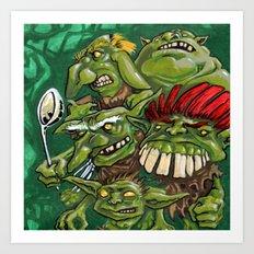 Goblin Pie Crew (v.1) Art Print