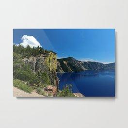 Crater Lake  and Lavacliffs Metal Print
