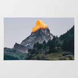 Beautiful Matterhorn in Sunrise Rug