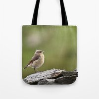 sparrow Tote Bags featuring Sparrow by Distilled Designs