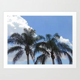 Twin Palm Trees Art Print