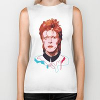 bowie Biker Tanks featuring Bowie by Anna McKay