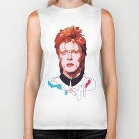 david bowie Biker Tanks featuring Bowie by Anna McKay