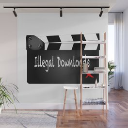 Illegal Downloads Clapperboard Wall Mural