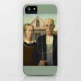 American Gothic by Grant Wood iPhone Case