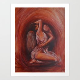 """""""Heart to heart"""" an original painting on canvas by Katrina Koltes Art Print"""
