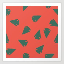 ARROWHEADS-RED Art Print