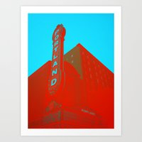 portland Art Prints featuring portland by toria
