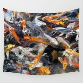 Painted Koi Wall Tapestry