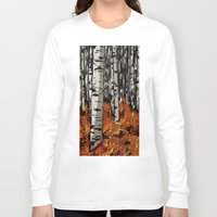 birch Long Sleeve T-shirts featuring Birch by LeahOwen