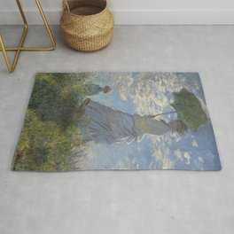 Art Woman with a Parasol Madame Monet and her son Claude Monet Rug