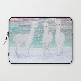 alpacas in the snow Laptop Sleeve