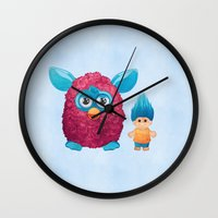 90s Wall Clocks featuring Sweet 90s by Ana Makes Art