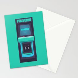 Polybius Arcade Game Machine Cabinet - Front Green Stationery Cards