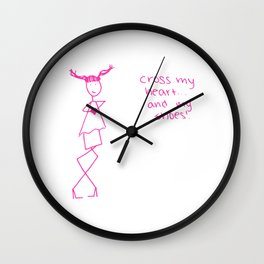 Cross my heart.. and my shoes! Wall Clock