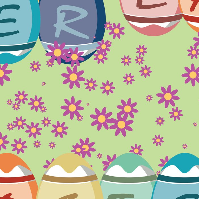 Easter word on eggs Leggings