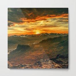 Mountains Ablaze Metal Print