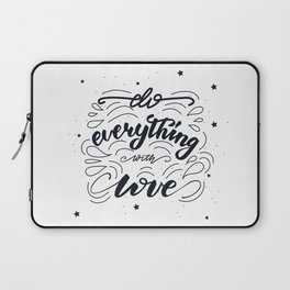 Do everything with love lettering design Laptop Sleeve