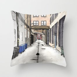 Alley in Ravenswood, Chicago Throw Pillow