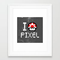 pixel Framed Art Prints featuring Pixel by eARTh