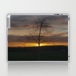 Sunset at the end of town Laptop & iPad Skin