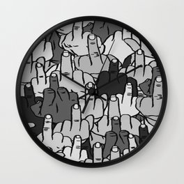 fuckyourself Wall Clock